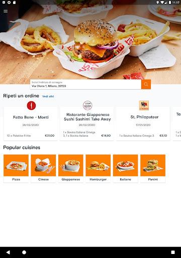 Just Eat Italy - Ordina pranzo e cena a Domicilio apktram screenshots 6