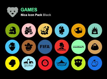 Nica Icon Pack Black MOD APK 1.0.8 3