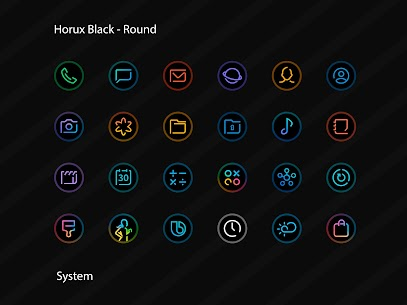 Horux Black APK- Round Icon Pack (PAID) Download 2