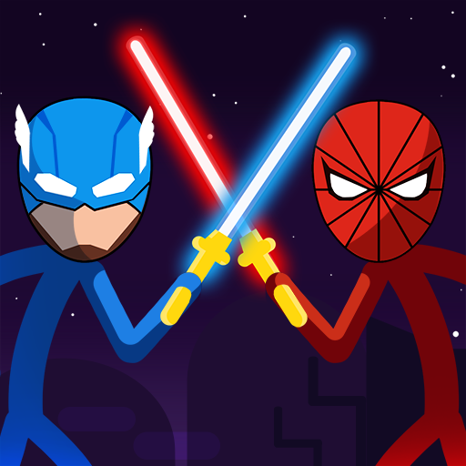 Join battle with stickman Universe! Play Super of hero spider Stick Man fight!