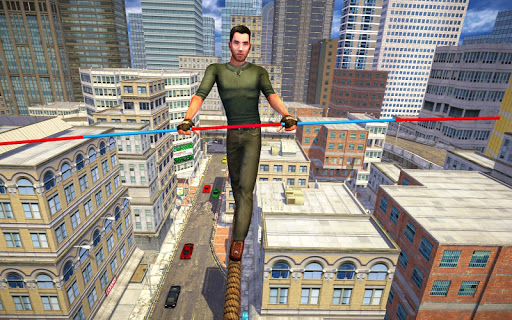 VR City View Rope Crossing - VR Box App  screenshots 1