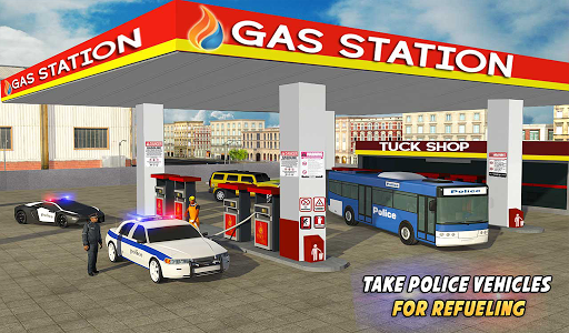 Police Car Wash Service: Gas Station Parking Games 1.4 screenshots 6