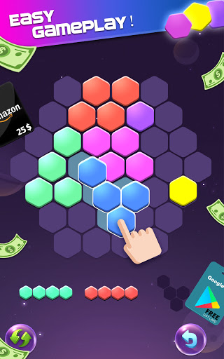 Lucky Hexa! u2013 Hexa Puzzle & Block Puzzle Big Win apkpoly screenshots 5
