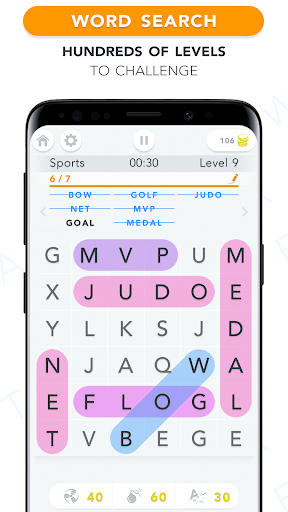 WordFind - Word Search Game apkslow screenshots 1