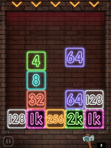 Drop Number : Neon 2048 apktram screenshots 24