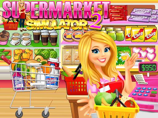 Supermarket Grocery Store Girl - Supermarket Games  screenshots 2