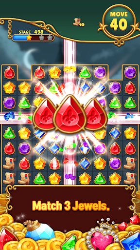 Jewels Mystery: Match 3 Puzzle apkslow screenshots 1