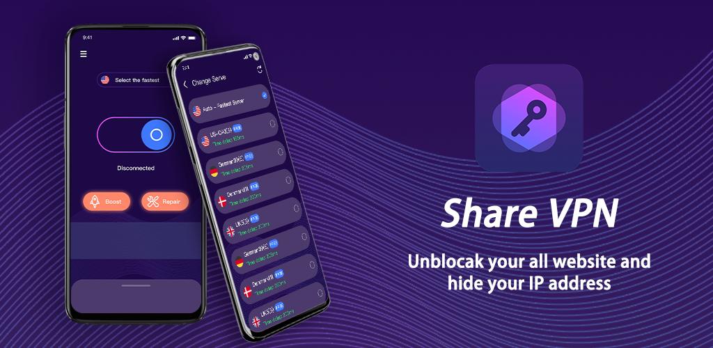 Share Vpn-Faster&Safer, Unlimited Free vpn  poster 9