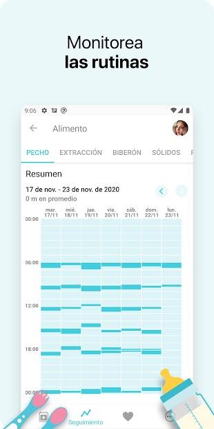 Captura de Pantalla 5 de Bebé + - La app de seguimiento para tu bebé para android