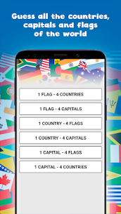 Countries, capitals and flags of the world Guess the countries, capitals and flags 0.4 Mod + Data Download 1
