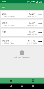 Body Measurements and Weight Loss Tracker