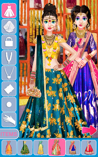 Indian Bride Stylist Dressup & Beauty Makeup Game screenshots 16