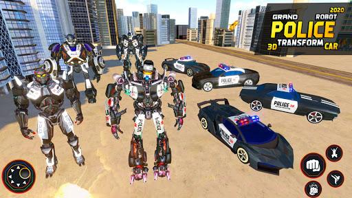 Flying Grand Police Car Transform Robot Games  Screenshots 9