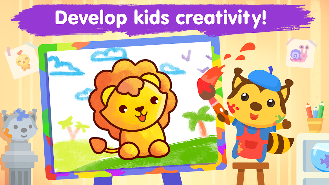 Coloring games for kids and toddlers 2-5 years old