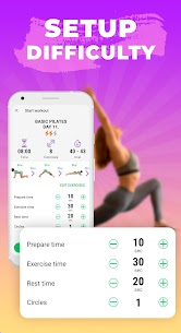 Pilates workout routine-Fitness exercises at home 2.5.0 Apk 5