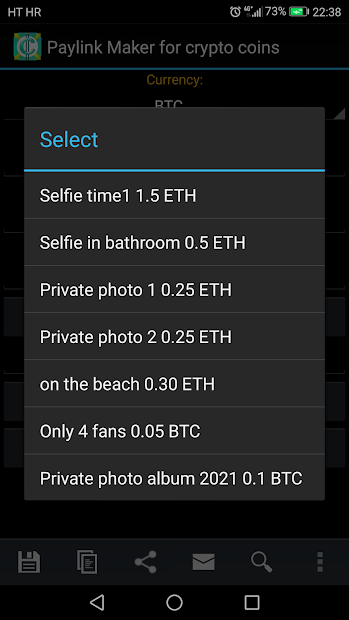 PayLink Maker for crypto currency coins screenshot 3