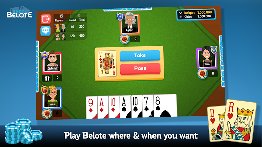 Multiplayer Belote & Coinche 6.9.4 screenshots 1