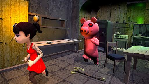 Piggy Family 3D: Scary Neighbor Obby House Escape screenshots 6