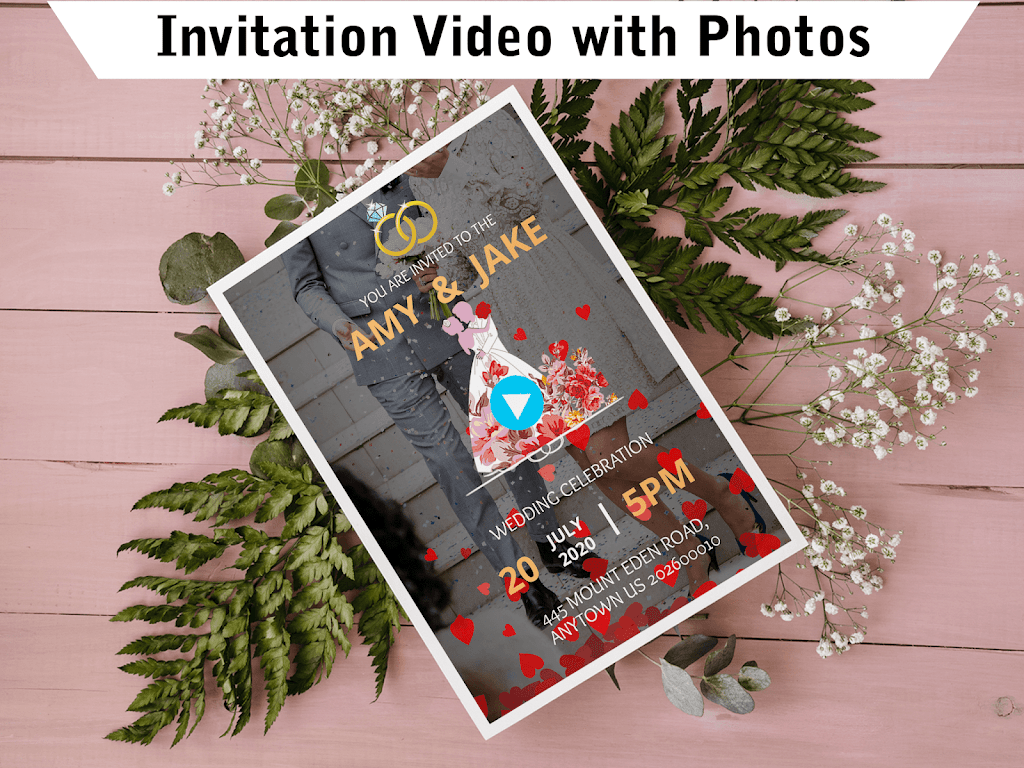 Wedding Card Design & Photo Video Maker With Music  poster 18