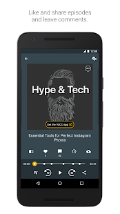 Spreaker Podcast Player - Free Podcasts App Screenshot