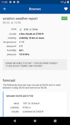 Aviation weather - METAR & TAF 3.0.48 Screenshots 2