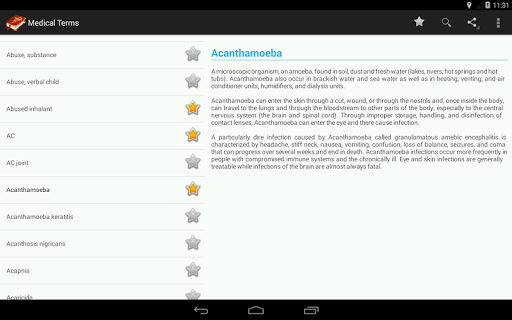 Medical Terminology Dictionary:Search&Vocabulary 3.6.0 Screenshots 9