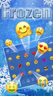 Frozen Snowflake Keyboard