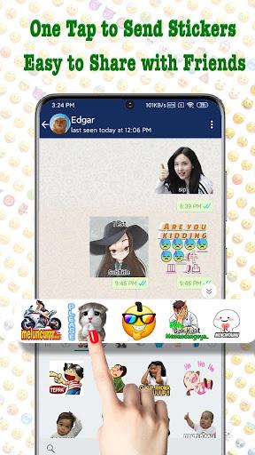 TextSticker - sticker for WhatsApp - WAStickerApps  screenshots 1
