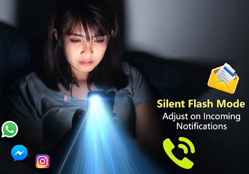 Flash Alert: Flashlight on Call and SMS android2mod screenshots 2
