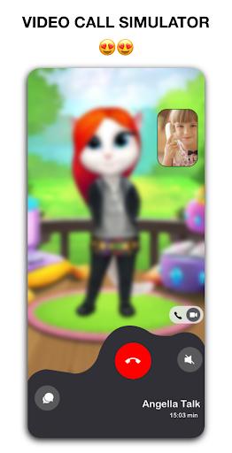 The Angela's 📱 talking & Video Call + Chat  screenshots 1