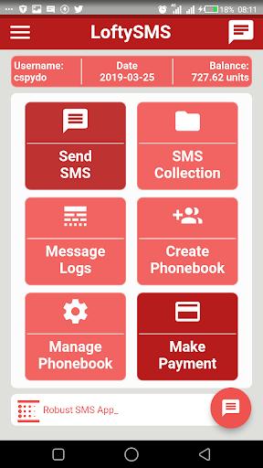 Loftysms Application  Screenshots 2