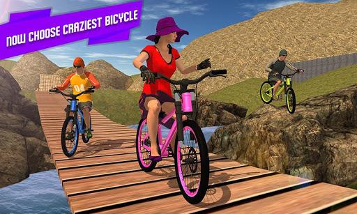 BMX Offroad Bicycle rider Superhero stunts racing screenshots 2