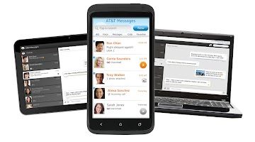 screenshot of AT&T Messages for Tablet