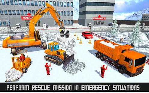 Heavy Excavator & Dozer Simulator u00b7 Snow JCB Game screenshots 2
