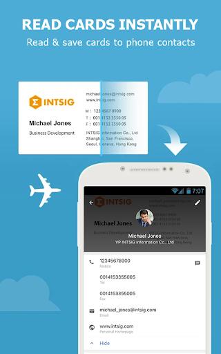 CamCard - Business Card Reader screen 1