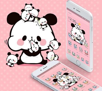 Pink Cartoon Cute Panda Theme 1.1.5 Mod APK Latest Version 3