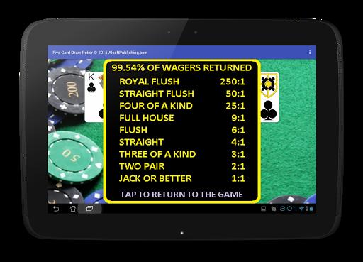 Five Card Draw Poker 1.20 screenshots 15