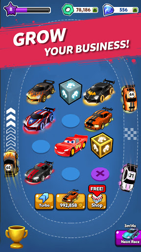 Merge Neon Car: Car Merger 2.2.4 screenshots 3