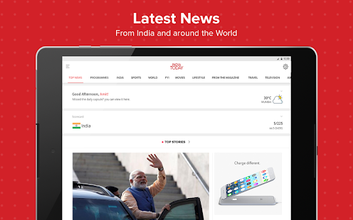 Latest English News & Free Live TV by India Today Screenshot