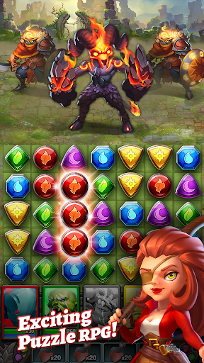 Dragon Strike: Puzzle RPG screenshots 1
