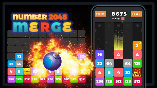 2048 Merge Number u2013 Free Merge Block Puzzle Games screenshots 3