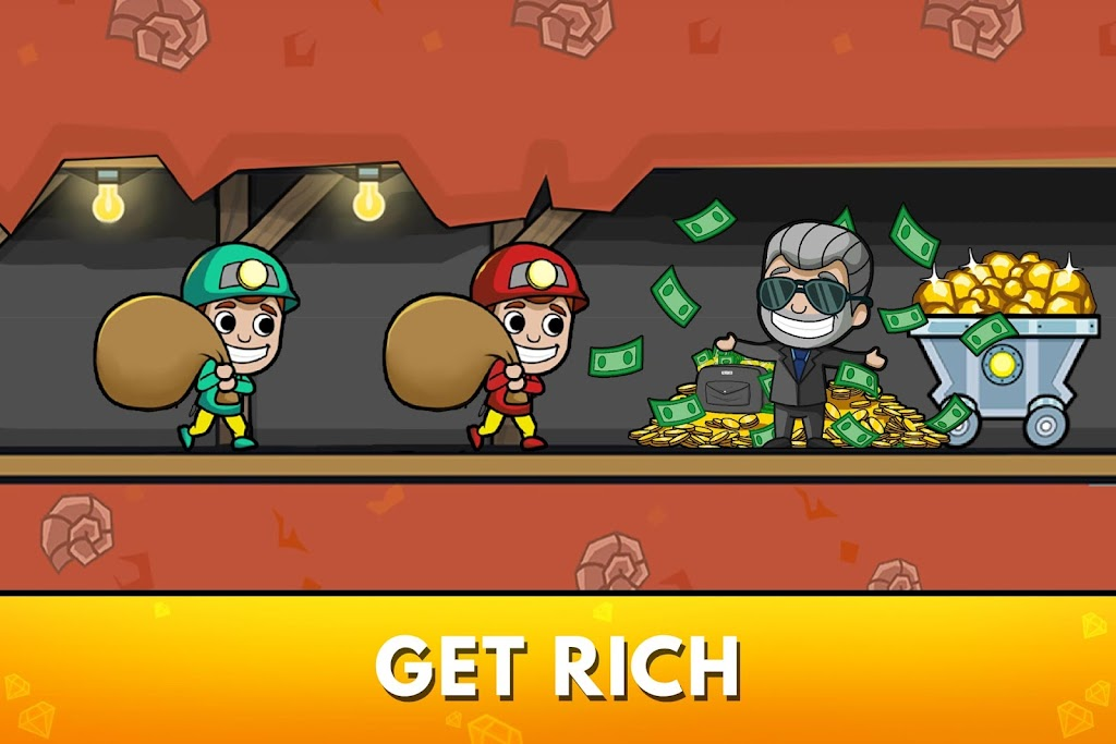 Idle Miner Tycoon: Gold & Cash Game MOD poster 1