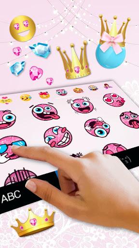 pink cute princess keyboard theme screenshot 3