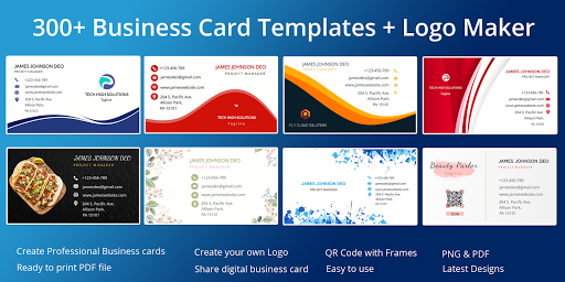 Business Card Maker Free Visiting Card Maker photo  Screenshots 1