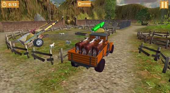 Free Farm Village Tractor Transport Farming Simulation 4