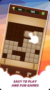 Wood Brick Crush - Classic Puzzle Game