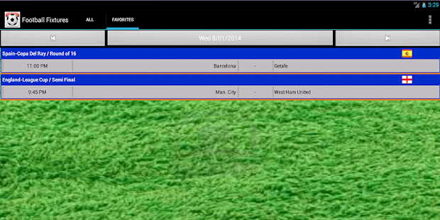Football Fixtures Screenshot