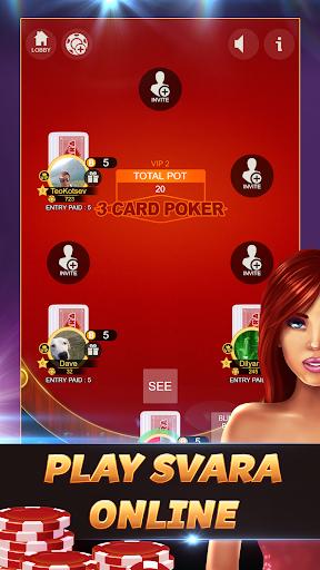 Svara - 3 Card Poker Online Card Game 1.0.12 screenshots 1