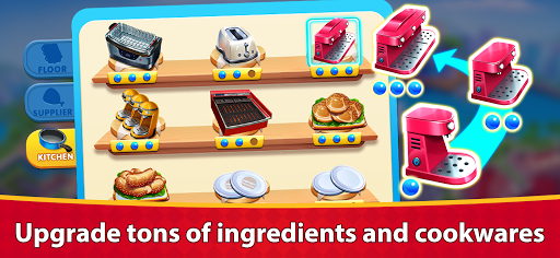 Cooking Marina - fast restaurant cooking games android2mod screenshots 12