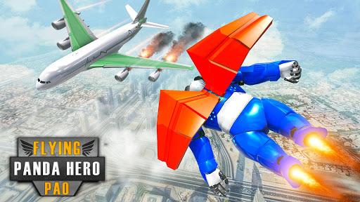 Flying Police Panda Robot Game: Robot Car Game screenshots 16